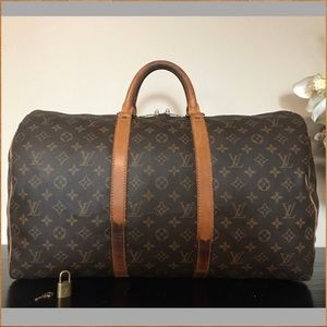 Authentic Louis Vuitton Keepall 50 (with lock/key)